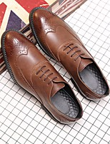 Недорогие -Муж. обувь Искусственное волокно Весна Осень Удобная обувь Туфли на шнуровке для Повседневные Черный Желтый Коричневый