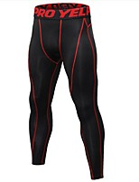 cheap -Men's Running Tights Quick Dry Anatomic Design Lightweight Tights Bottoms Exercise & Fitness Leisure Sports Running Polyester Elastane