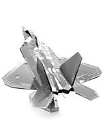cheap -3D Puzzles Metal Puzzles Fighter Aircraft Creative Focus Toy Hand-made Metal Military Standing Style Toy Girls' Boys' Gift