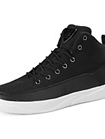 Недорогие -Муж. обувь Ткань Весна Осень Удобная обувь Кеды для Повседневные Белый Черный Серый