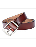 cheap -Women's Casual Basic Leather Wide Belt - Solid Colored, Basic