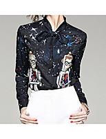 preiswerte -Damen Geometrisch Hemd, Hemdkragen
