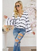 economico -T-shirt Per donna Romantico A strisce