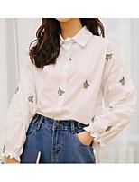 Недорогие -Жен. Рубашка, Квадратный вырез Геометрический принт