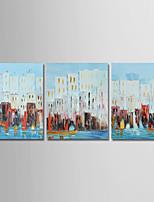 abordables -Peint à la main Abstrait Format Vertical, Moderne Toile Peinture à l'huile Hang-peint Décoration d'intérieur Trois Panneaux
