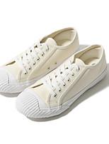 baratos -Homens sapatos Lona Primavera Verão Conforto Tênis para Casual Ao ar livre Branco Preto Branco/Preto