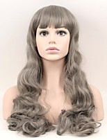 cheap -Synthetic Wig Natural Wave Natural Hairline Gray Women's Capless Natural Wigs Long Synthetic Hair