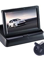 Недорогие -ZIQIAO 4,3 дюйм CCD Комплект заднего вида для автомобилей Складной Водонепроницаемый для Автомобиль