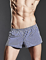 cheap -men's normal micro-elastic striped boxers underwear medium, cotton 1pc gray green blue