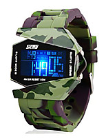cheap -SKMEI Men's Digital Watch Military Watch Sport Watch Digital Alarm Calendar / date / day Chronograph Water Resistant / Water Proof LCD
