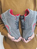 Недорогие -Муж. обувь Дерматин Зима Удобная обувь Кеды для Повседневные Черный Серый