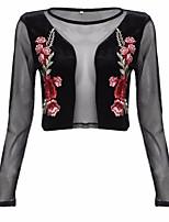 cheap -Women's Polyester Blouse - Floral