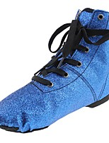 cheap -Children's Jazz Sparkling Glitter Flat Practice Flat Heel Blue Customizable