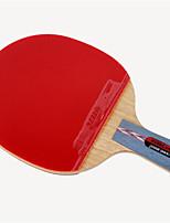 abordables -DHS® Hurricane CS Ping Pang/Tennis de table Raquettes En bois Fibre de carbone Caoutchouc Manche Court Boutons