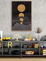 cheap -People Cartoon Illustration Wall Art, Plastic Material With Frame For Home Decoration Frame Art Living Room