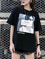 abordables -Tee-shirt Femme,Lettre Chic de Rue