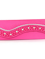 cheap -Women's Bags Polyester Wristlet Beading for Wedding Event/Party All Seasons Blue White Black Almond Fuchsia