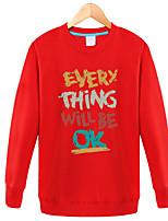 cheap -Men's Plus Size Sweatshirt - Geometric Letter Round Neck