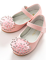 cheap -Girls' Shoes Leatherette Spring Fall Flower Girl Shoes Ballerina Flats Sparkling Glitter Magic Tape for Wedding Party & Evening White Pink