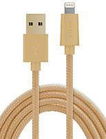Недорогие -Подсветка Адаптер USB-кабеля Быстрая зарядка Высокая скорость Плетение Кабель Назначение iPhone 500 cm ПВХ