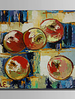 cheap -Hand-Painted Abstract Still Life Square, Modern Canvas Oil Painting Home Decoration One Panel