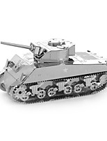 cheap -M4 Sherman 3D Puzzles Metal Puzzles Tank Creative Focus Toy Hand-made Metal 1pcs Standing Style Military Toy Tank Kid's Adults' Girls'