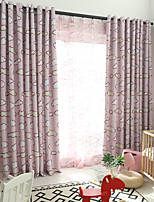 cheap -Two Panel Korean Cartoon Style Cloud Printing Curtains Living Room Bedroom Dining Room Blackout Curtains Multi-Color Optional