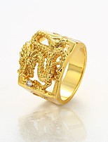 cheap -Men's Gold Plated Statement Ring - Dragon Cool Rock For Club Street