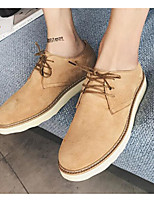 cheap -Men's Shoes Nubuck leather Spring Fall Comfort Oxfords for Casual Gray Camel