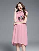 preiswerte -Damen Retro Anspruchsvoll Swing Kleid - Bestickt, Blumen Tier Midi