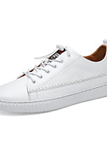 cheap -Men's Shoes Leatherette Leather Spring Summer Comfort Sneakers for Casual White Black