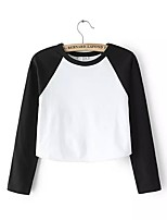 cheap -Women's Loose T-shirt - Color Block