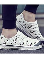 Недорогие -Муж. обувь Этиленвинилацетат Весна Лето Удобная обувь Мокасины и Свитер для Повседневные Белый Черный Синий