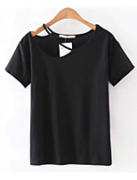 cheap -Women's Cute Cotton T-shirt One Shoulder