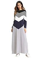 cheap -SHE IN SUN Women's T Shirt Dress - Floral Color Block Basic Maxi
