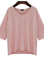 preiswerte -Damen Solide - Street Schick T-shirt, V-Ausschnitt