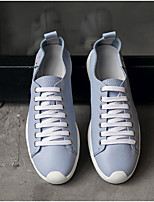cheap -Men's Shoes Cowhide Nappa Leather Spring Fall Comfort Sneakers for Casual Black Light Blue