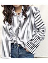 cheap -Women's Slim Shirt - Solid Shirt Collar