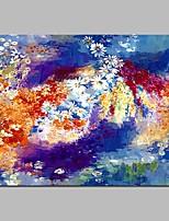 preiswerte -Handgemalte Abstrakt Horizontal, Modern Segeltuch Hang-Ölgemälde Haus Dekoration Ein Panel