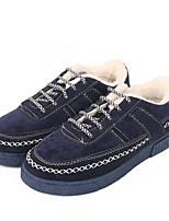 Недорогие -Муж. обувь Ткань Зима Осень Флисовая подкладка Удобная обувь Кеды для Повседневные Черный Темно-синий Серый