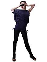 abordables -Danse latine Hauts Femme Entraînement Soie Glacée Bandeau Sans Manches Haut