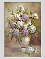 baratos -Pintados à mão Floral/Botânico Panorâmico vertical, Modern Pintura a Óleo Decoração para casa 1 Painel