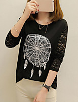 cheap -Women's Plus Size Loose T-shirt - Geometric