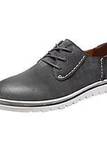 baratos -Homens sapatos Couro de Porco Primavera Outono Conforto Tênis para Casual Preto Cinzento Verde