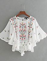 cheap -women's basic street chic blouse round neck