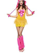 cheap -Super Heroes Witch Halloween Carnival Birthday Oktoberfest Festival / Holiday Halloween Costumes Yellow Color Block Vampires Animal
