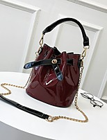 cheap -Women's Bags PU Shoulder Bag Zipper for Casual All Seasons Black Red Brown