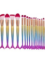 cheap -16pcs Makeup Brush Set Synthetic Hair Eco-friendly Professional Plastic Face Eco-friendly Professional