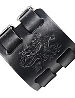 cheap -Men's Leather Cool Steampunk Dragon 1pc Leather Bracelet - Steampunk Rock Black Brown Bracelet For Club Street