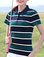 preiswerte -Damen Grundlegend T-shirt,Hemdkragen